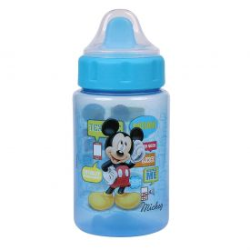 Copo Com Tampa e Válvula Redutora 340ml BabyGo Dermiwil - Azul bebe
