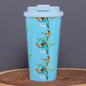 Copo para Café 430ml com Tampa Solecasa - Beija Flor