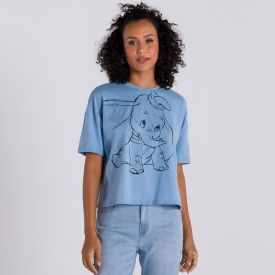 Cropped Dumbo Disney Azul Claro