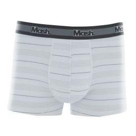Cueca Boxer Cotton Listrado Mash Branco