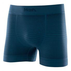 Cueca Boxer Sem Costura com Listras Azul Diesel