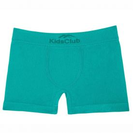 Cueca Boxer Sem Costura Kids Club DelRio Vrd.Aqu