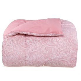 Edredom Casal 200 Fios Percal Buona Fortuna - Zara Rosa