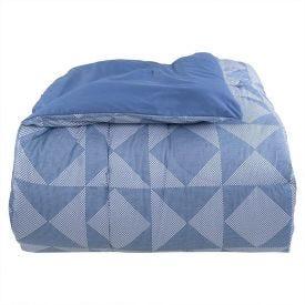 Edredom Casal 200 Fios Percal Buona Fortuna - Roma Azul