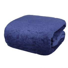 Edredom King Plush Classic Havan - Azul Profundo