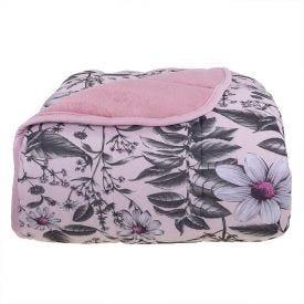 Edredom Queen Confort Plush Dupla Face Havan - Diamante Rosa Make