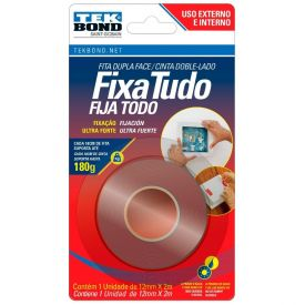 Fita Supertape Fixa Tudo Tekbond - 12mm X 2m