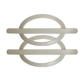 Fivela Oval Bella Arte - Pérola