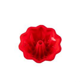 Forma De Silicone Com Furo De Flor Finecasa - Vermelho