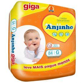Fralda Descartável Anjinho Giga G - C/ 84 unidades