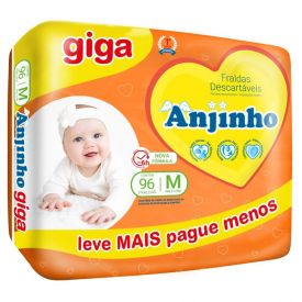 Fralda Descartável Anjinho Giga M - C/ 96 uni.