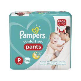 Fralda Pampers Confort Sec Pants Pacotão Com 26 Unidades - Tam.P