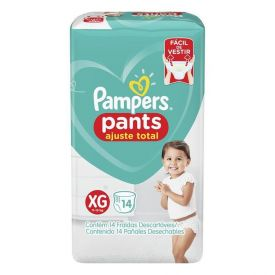Fralda Pampers Confort Sec Pants Pacotão Tam. Xg - 14 Unidades