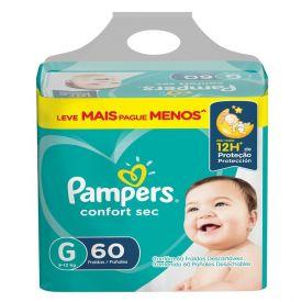 Fralda Pampers Confort Sec Tam.G 9 A 13Kg - 60 unidades