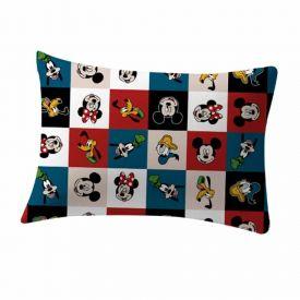 Fronha Estampada 48X68cm Disney - Mickey Xadrez