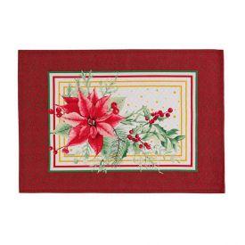 Fundo De Prato 33X45cm Natal Karsten- - Flores de Natal