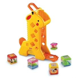Girafa Com Blocos Surpresa Peek A Blocks Fisher Price - B4253