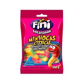 Goma Minhocas Cítricas Fini - 100g