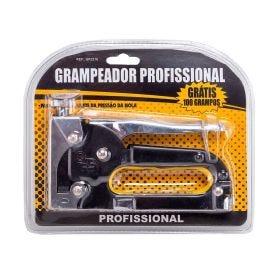 Grampeador Profissional GR2216 Meghazine - Prata