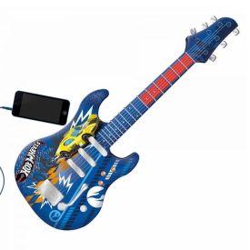 Guitarra Infantil Hot Wheels Azul Fun - 8424-4