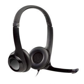 Headset Estéreo Com Fio Usb Logitech H390 - Preto