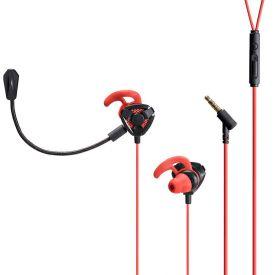 Headset Gamer Ariki P3 Stereo Earphone Warrior - Preto e Vermelho