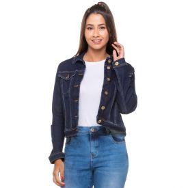 Jaqueta Jeans com Elastano + Bolsos Contatho Dark Blue