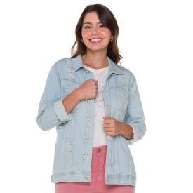 Jaqueta Jeans com Rasgos Contatho Ice
