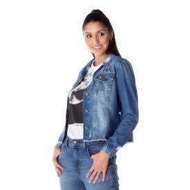 Jaqueta Jeans Girl Power Contatho Blue