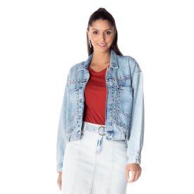Jaqueta Jeans Rock And Rio Boby Blues Blue