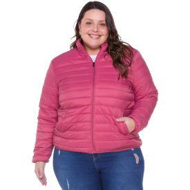 Jaqueta Plus Size de Nylon Gomos Patricia Foster Mais Rosa Retro