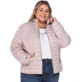 Jaqueta Plus Size Nylon com Ribana Patricia Foster Mais Nude
