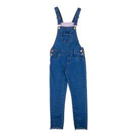 Jardineira de 4 a 10 Anos Jeans com Laço Marmelada Azul