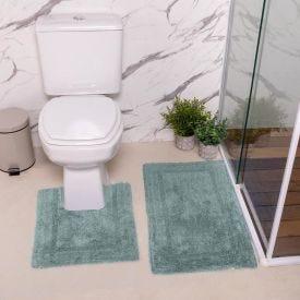 Jogo De Tapetes De Banheiro 2 Peças Arezo Havan - Azul Retro