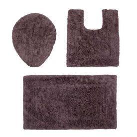 Jogo De Tapetes De Banheiro Arezo 3 Peças Havan - Cimento