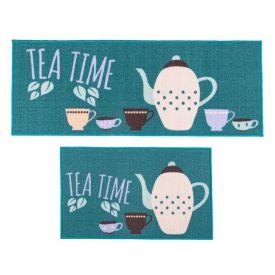 Jogo De Tapetes Para Cozinha 2 Peças Napoli - Tea Time