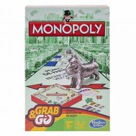 Jogo Monopoly Grab & Go B1002 Hasbro - B1002