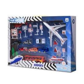 Kit Aeroporto Play Machine Multikids - BR968 - Colorido