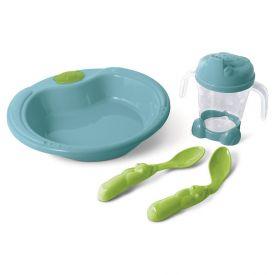 Kit Alimentação 4 Peças Yoyo Baby - Azul Turquesa e Verde