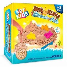 Kit Areia Mágica Brincando Na Praia 400G Art Kids Acrilex - 05926