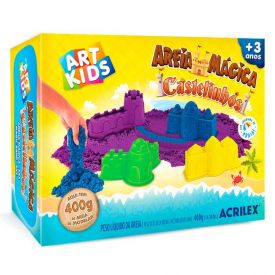 Kit Areia Mágica Castelinhos 400G Art Kids Acrilex - 05925
