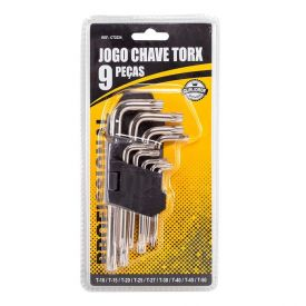 Kit Chave Torx 9 Peças Ct2224 Meghazine - Prata
