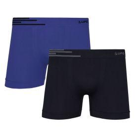 Kit com 2 Cuecas Boxer da Lupo Azul Náutico/Preto