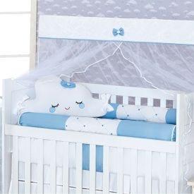 Kit de Berço Americano 9 peças Light Yoyo Baby - Nuvem Azul