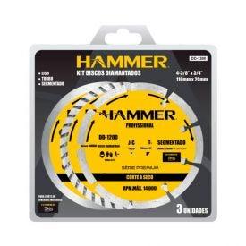 Kit De Discos Diamantados 3 Peças Hammer - GYDD1300