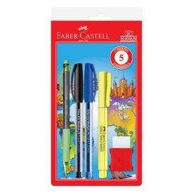 Kit Escolar Fashion Basic 5 Peças Faber Castell - KIT/HAVAN20