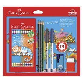 Kit Escolar Prático Com 19 Peças Faber Castell - KIT/HAVAN17