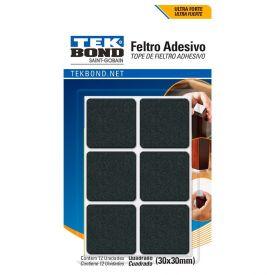Kit Feltros Adesivos Com 12 Unidades Tekbond - Quadrado