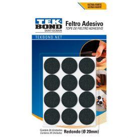 Kit Feltros Adesivos Com 24 Unidades Tekbond - Redondo