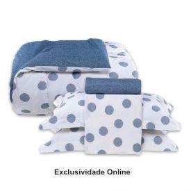 Kit Jogo De Cama + Edredom Queen 5 Peças Buona Fortuna Percal 200 Fios Poa - Exclusividade Online